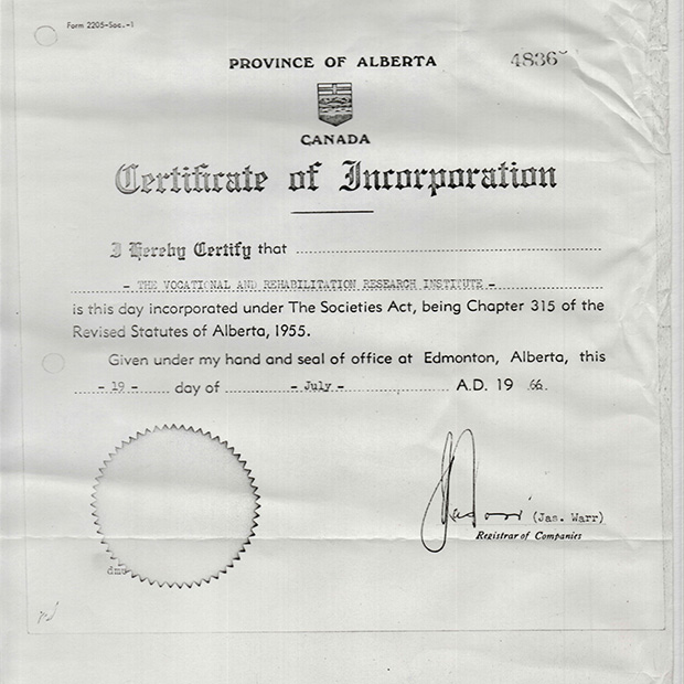 1966 - Certificate of Incorporation
